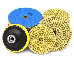 Diamond Polishing Pads for Concrete, 9Pcs 4 inch Dry Pads an