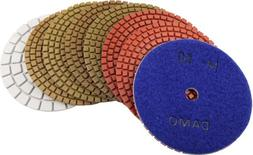 DAMO Diamond Polishing Pads 5 inch Wet Set of 8 PCS with Whi