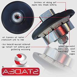 """STADEA Diamond Profile Wheel Hand Bits 3/16"""" Demi Radius Gra"""