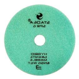 """Diamond Wet Dry 4"""" 3-Step Polishing Pad For Granite Glass Qu"""