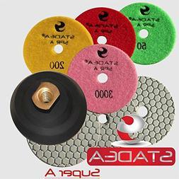"STADEA 4"" Dry Diamond Polishing Pads for granite Marble Conc"