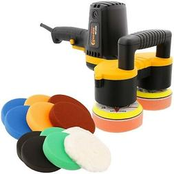 "4"" Dual Head Random Orbit Dual-Action Polisher, Polishing &"