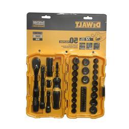 DeWALT DWMT81611 50 Piece Mechanics Tool Set Kit Black Chrom