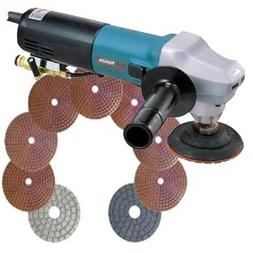 "MAKITA 4"" ELECT. WET POLISHER - COMPLETE KIT"