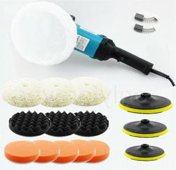 Electric Car Polisher Buffer Sander Waxer Kit Variable 6-Spe