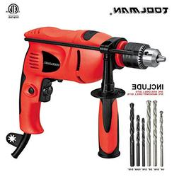 """Toolman Electric Power Drill Driver Variable Speed 1/2"""" For"""