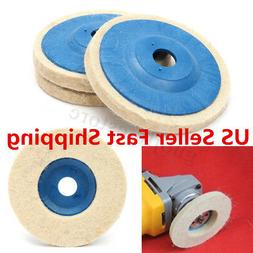 "3Pcs 4"" 16mm Felt Wool Buffing Angle Grinder Wheel Felt Poli"