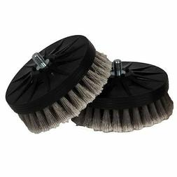 Cyclo Gray Soft Leather Brush, Pair for DA or Cyclo Polisher