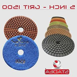 "STADEA Grit 1500 5"" Diamond Polishing Pads Premium Grade Wet"