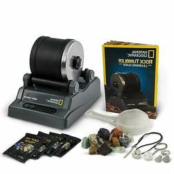 NATIONAL GEOGRAPHIC Hobby Rock Tumbler Kit - Includes Rough