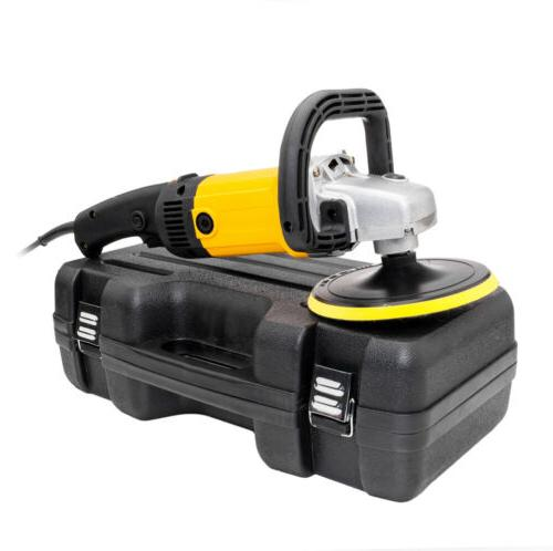 "1600W 7"" Electric Variable Speed Car Polisher Buffer Waxer 600-3100RPM"