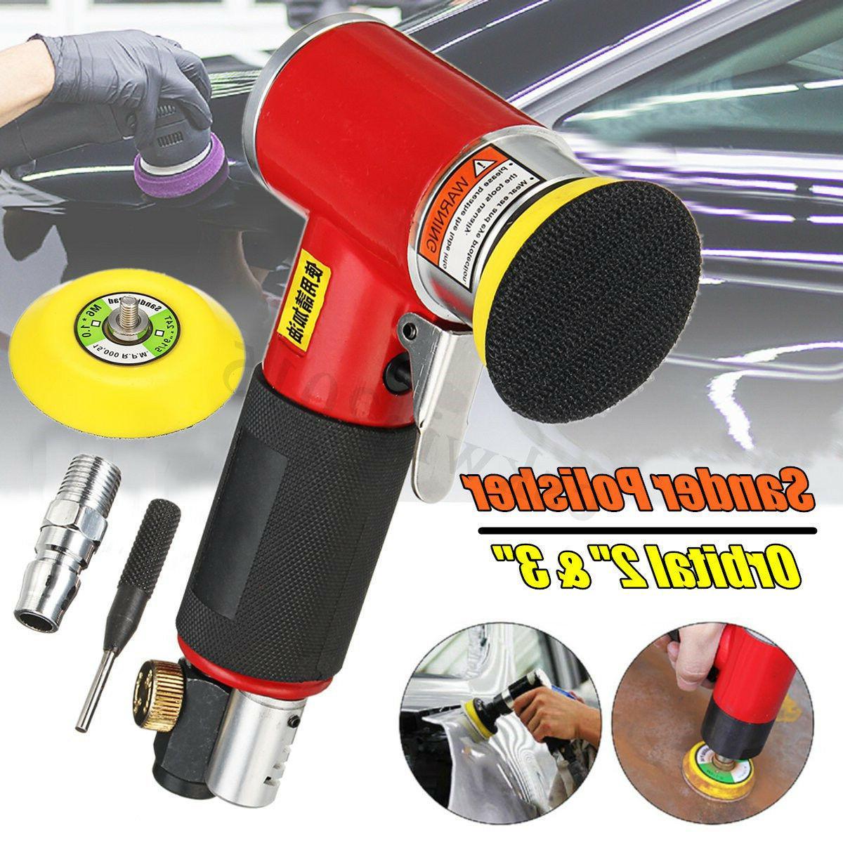 2/'/' 3/'/' Mini Orbital Air Sander Mini Polisher For Car