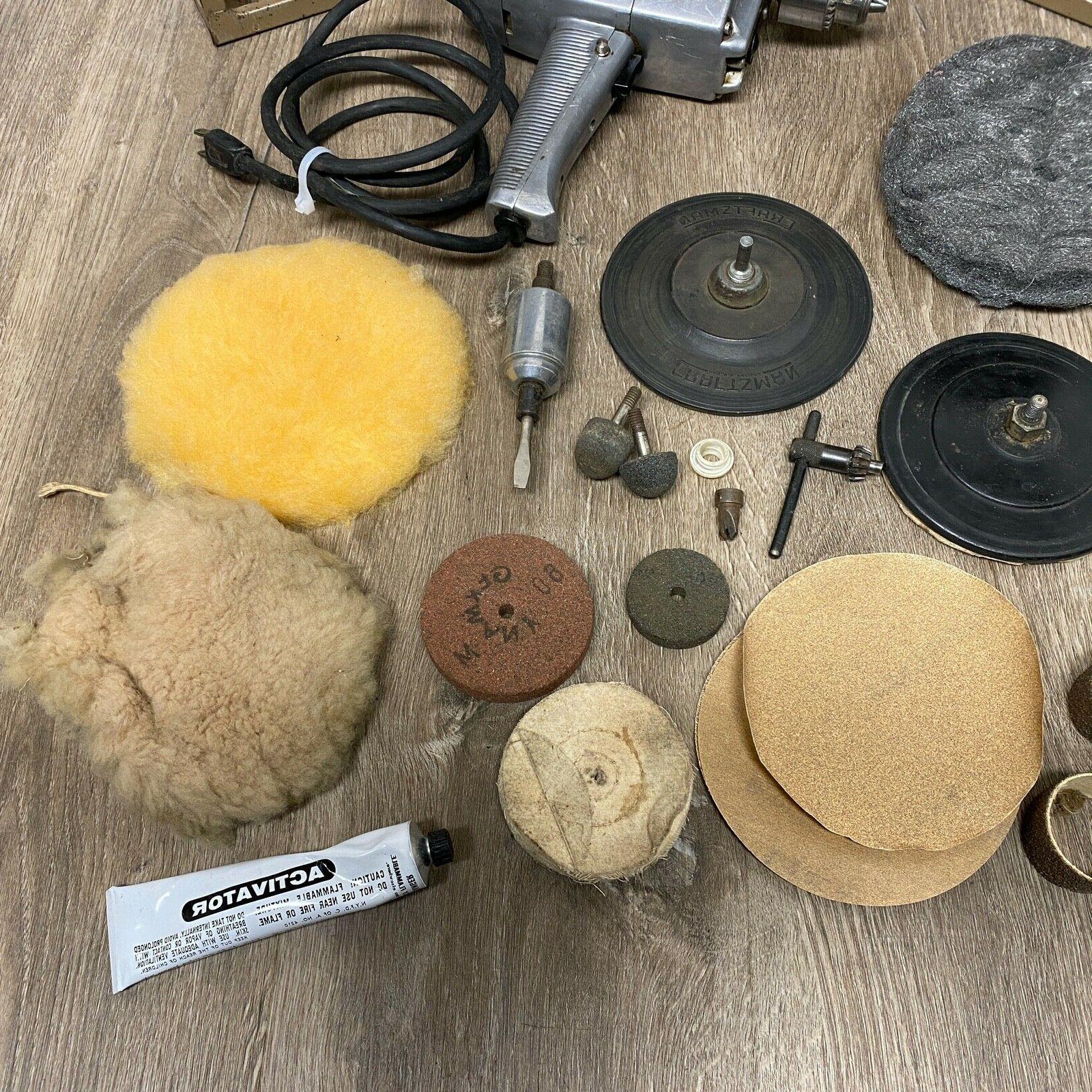 Craftsman 2 speed polisher Sander Drill 315.27760 & Accessories