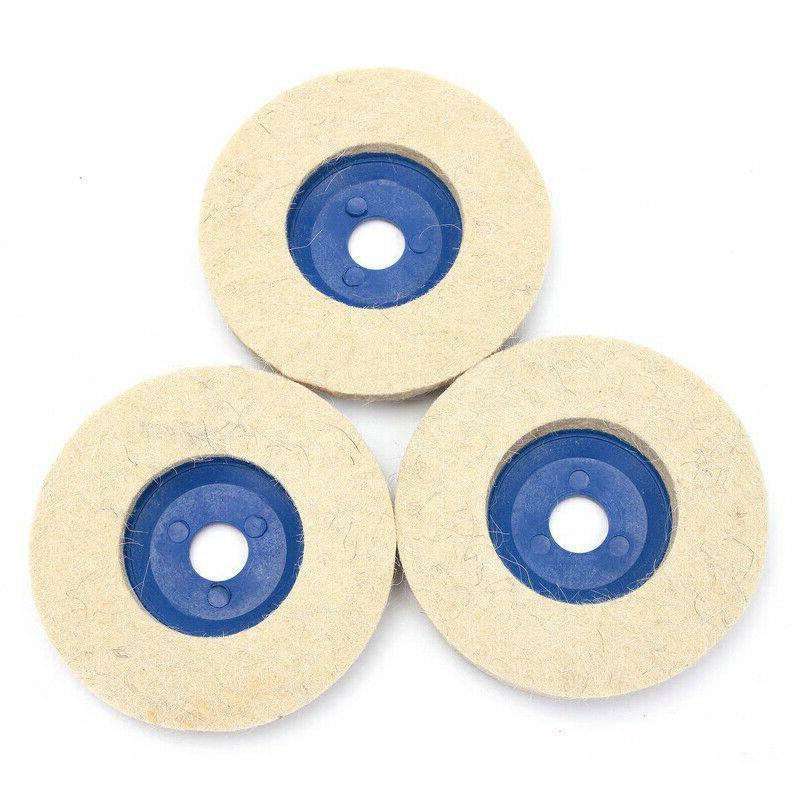 3pcs 4 Inch Wool Wheel Polishing Pad