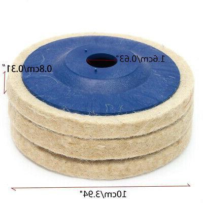 3pcs 4 Wool Grinder Wheel Disc Pad Set