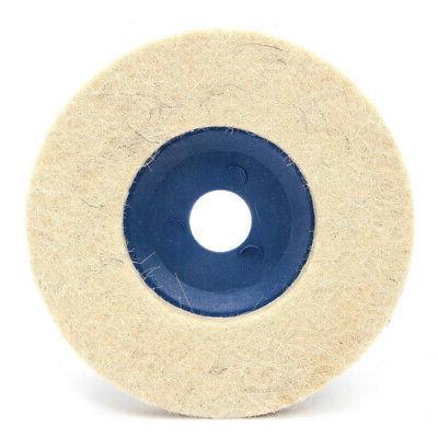 3pcs 100mm Wool Buffing Wheel Felt Polishing Disc