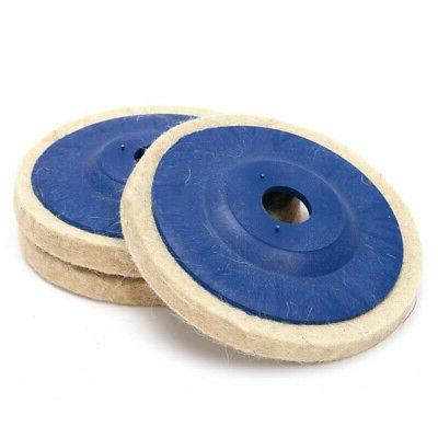3pcs 4 Wool Angle Grinder Wheel Polishing Pad