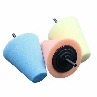 3PCS Power Cone Foam Buffer With Drill