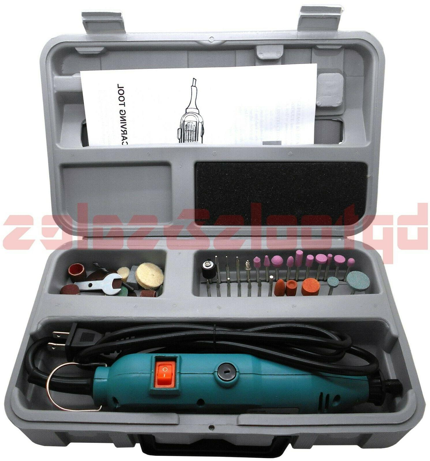 46pc electric rotary tool die grinder carving