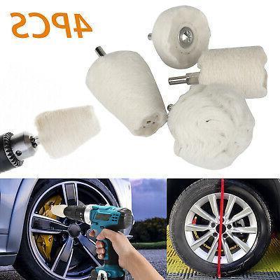 4pcs white cotton pad polishing buffing wheel