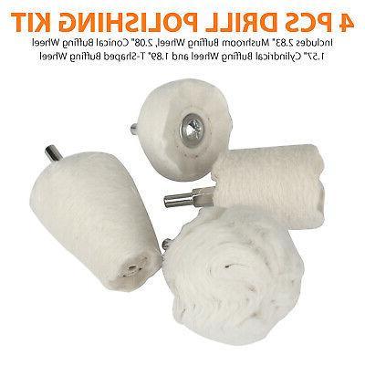 4Pcs Cotton Polishing Car
