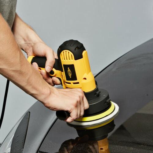 "5"" 600W Car Polisher Buffer Machine Kit Waxing Tool Pad Bonnet"