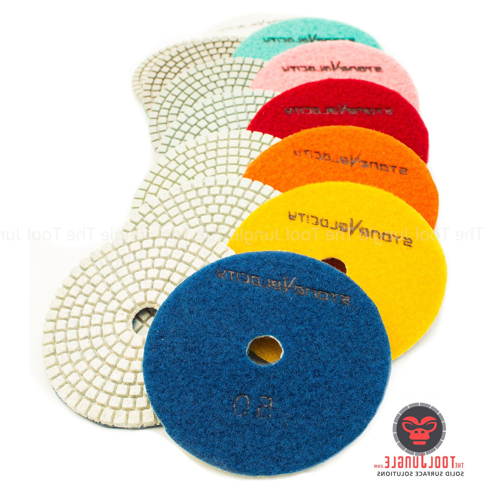 4 inch diamond polishing pads wet dry