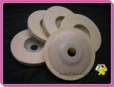 Round FELT polishers