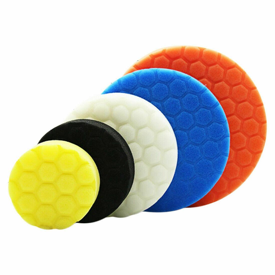 5PCs 3/4/5/6/7 Polishing Sponge Buffing Pads Disc Wax Set