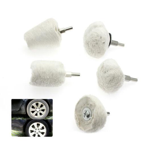 5pcs Car Polisher Polishing Buffing Pads Mop Wheel Drill Kit