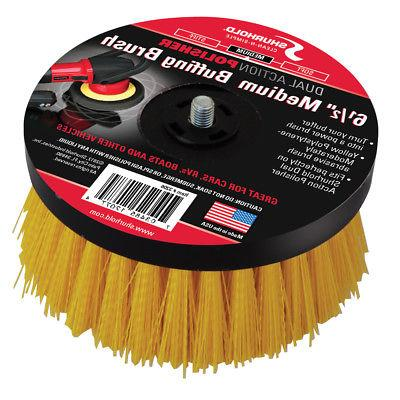 Shurhold 6- Medium Brush f/Dual Action Polisher