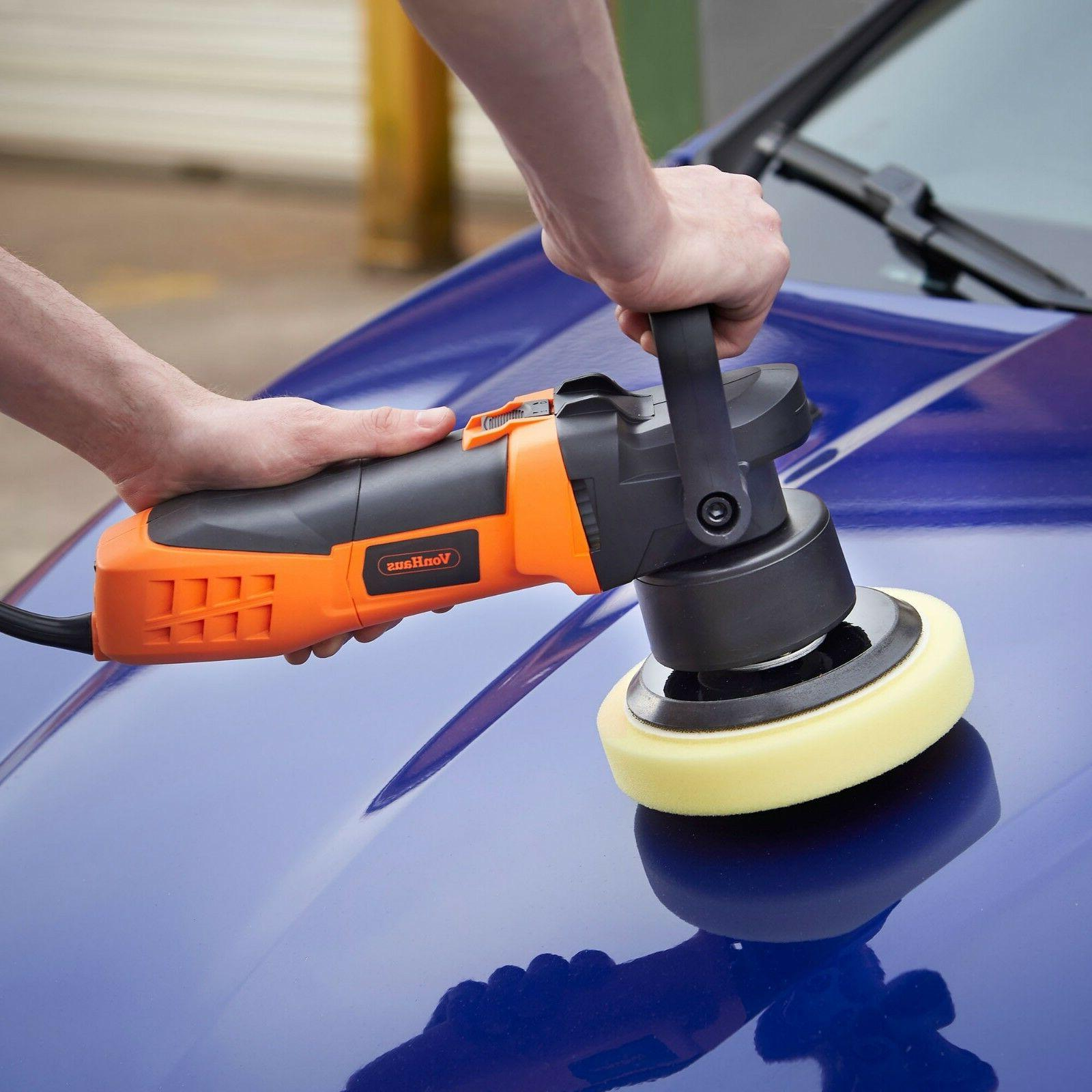 "VonHaus 6"" Random Polisher with Variable Speed"
