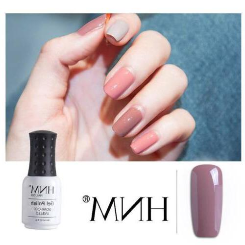 6pcs Nude Nail Polish LED Off Base US