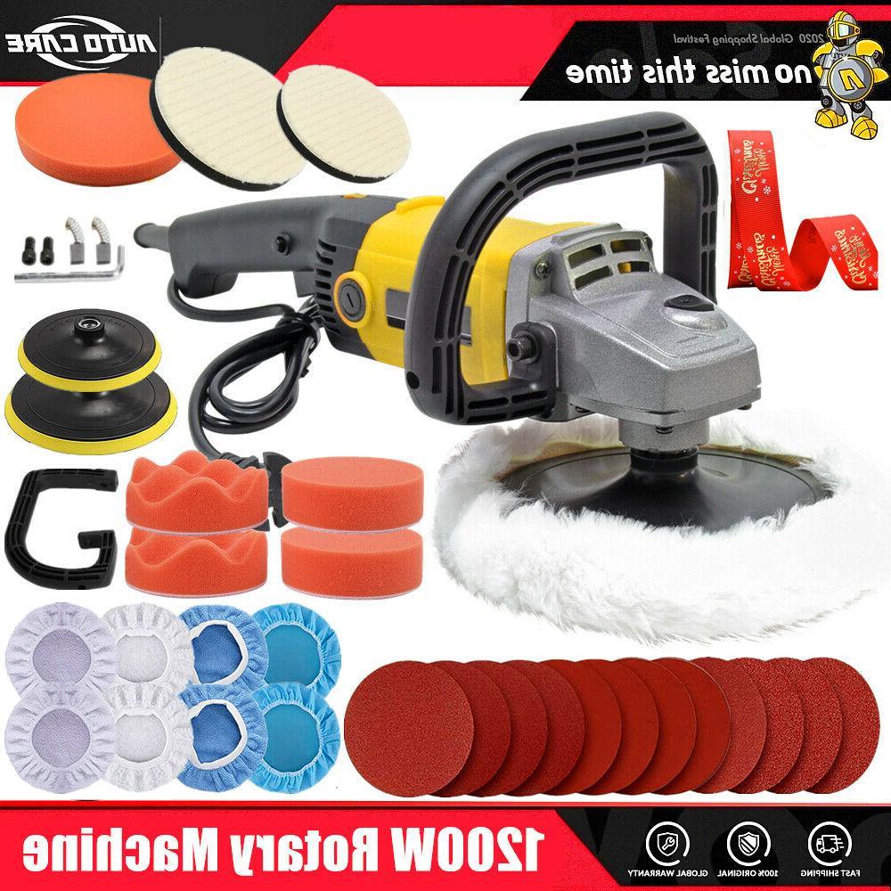 7 1200w car polisher kit sander buffer