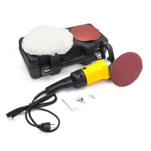 "1600W 7"" Car Polisher 6 Variable Speed Polishing Machine San"
