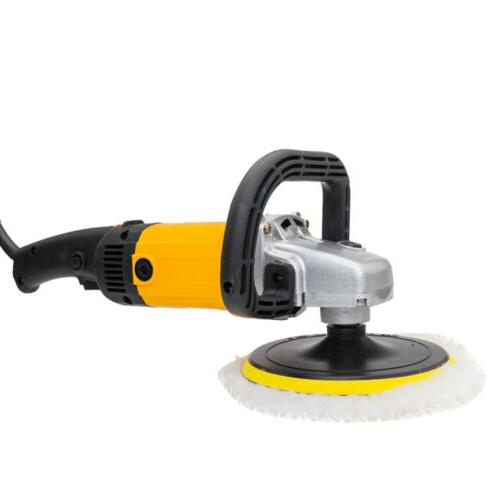 "7"" 1600W 6 Variable Speed Polisher Buffer Detail Boat"