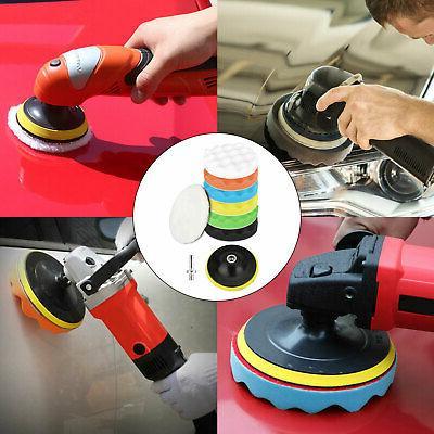 9pcs 5 Inch Car Drill Kit Waxing Foam Polisher