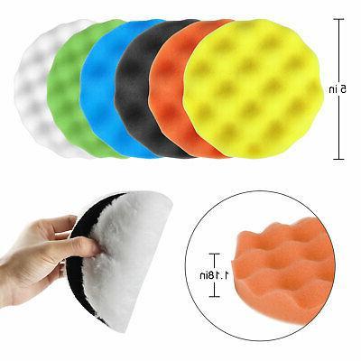 Buffing Pads Drill Kit Waxing Foam