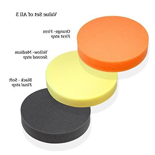 "Premium-Quality 6"" Foam Buffing Pad for Power Polishers - Ch"