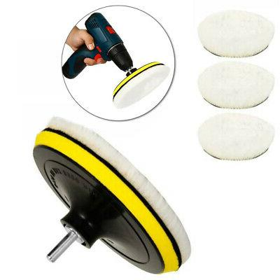 6 Buffing Pads Car Drill Useful