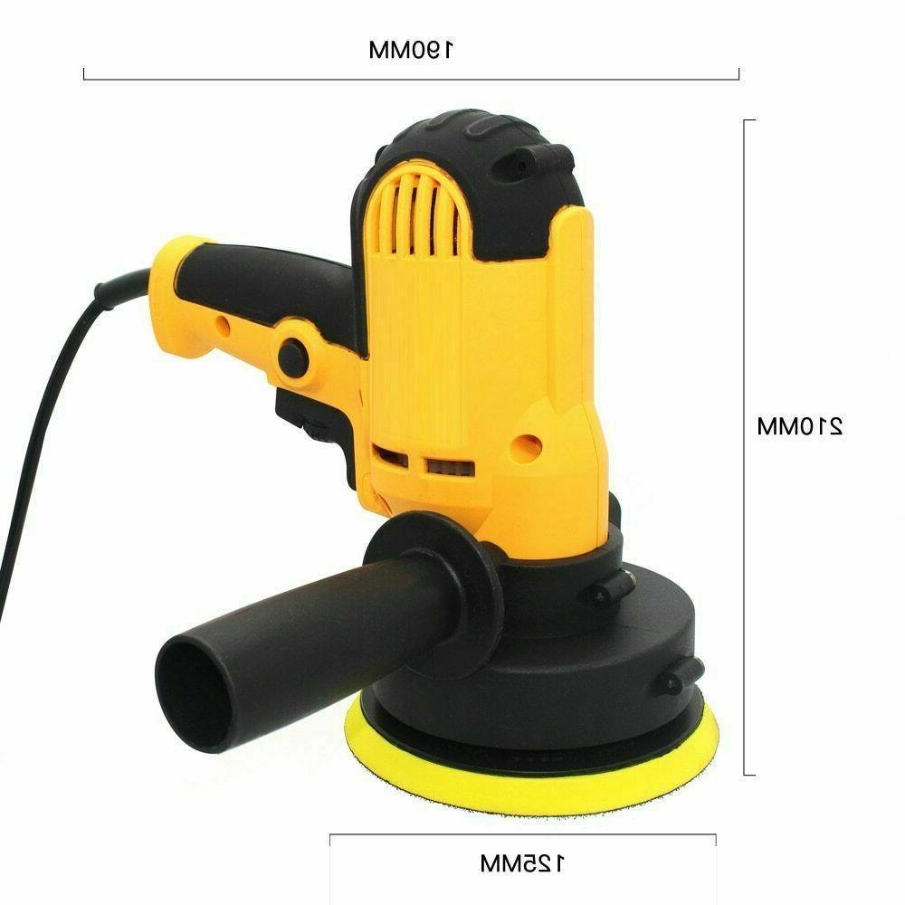"Car Kit Buffer Wax Machine Speed w/ 5"" 7"" Bonnet Pads"