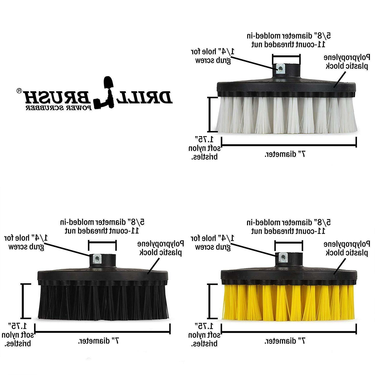 Contractor Power Brush Kit for and Polishers / Buffers