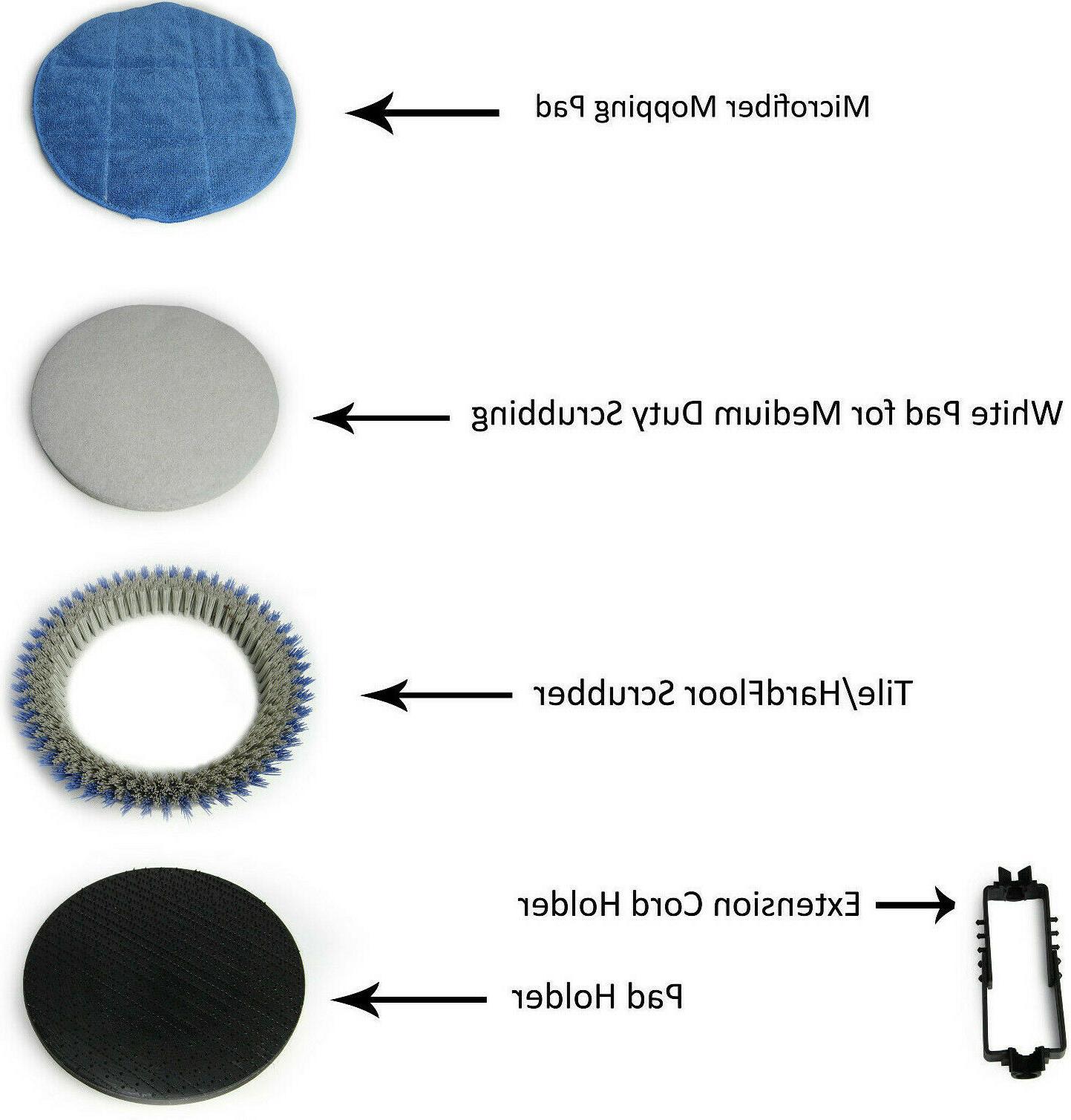 Prolux Core Polisher Floor Buffer Machine w/ all Pads