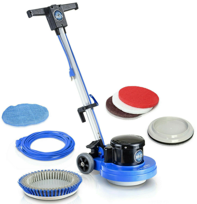 core heavy commercial polisher floor buffer machine