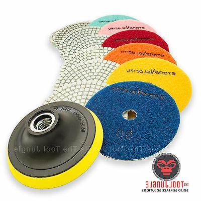 Diamond Polishing Pads 4 inch Wet/Dry 8 Piece Set Granite St