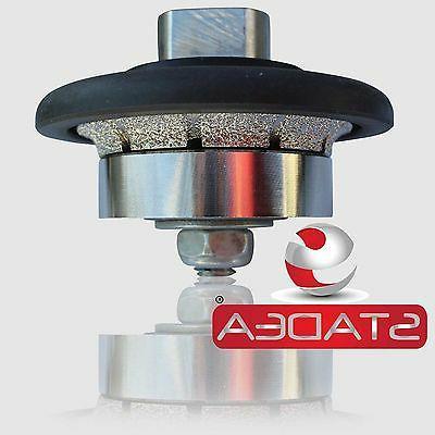 "STADEA Diamond Wheel Hand Bits 3/16"" Radius Granite Profiling"