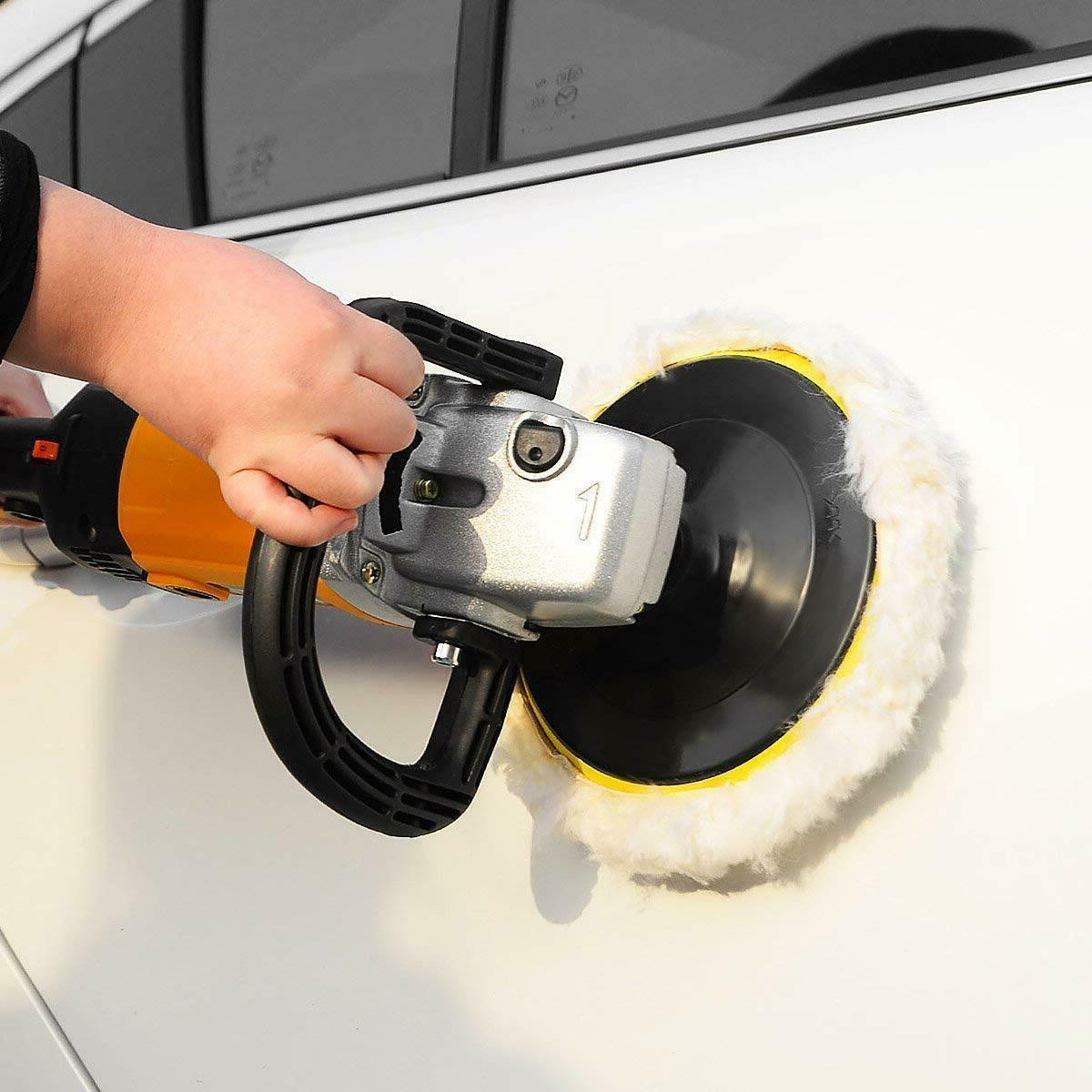 Electric Car Polisher 6-Speed Buffer Sander w/Bonnet