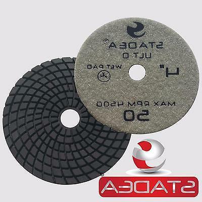 "Stadea 4"" Diamond Polishing Pad Grit 30 grit for Granite Qua"