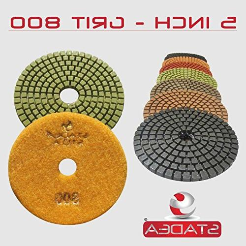 STADEA Polishing Pads Set Concrete Backer