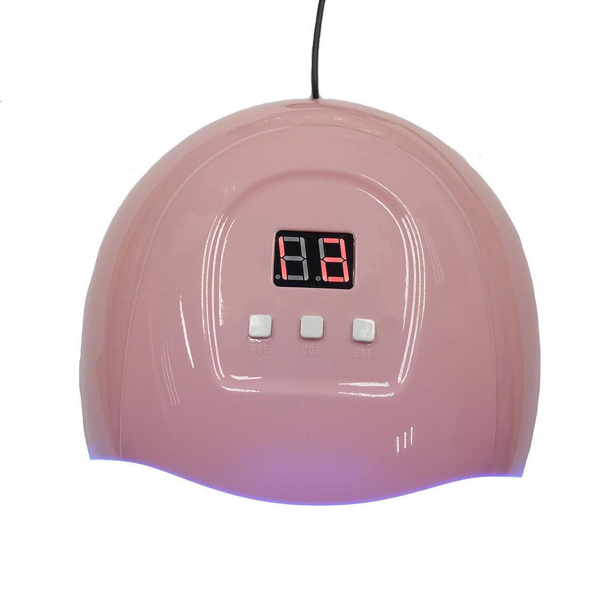 LED Nail Gel Polish Lamp Sensing Manicure Machine Light 54W